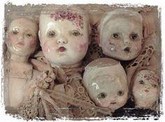 Dollheads by Joanna Pierotti at Moss Hill Studio