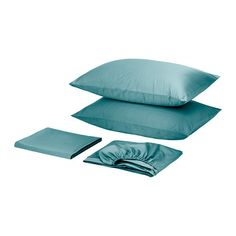 IKEA - GÄSPA, Sheet set, King, , Sateen-woven bed linen in cotton is very soft and pleasant to sleep in, and has a pronounced luster that makes it look beautiful on your bed.The combed cotton gives the bed linen an extra smooth and even surface which feels soft against your skin.Fits mattresses with a thickness up to 13