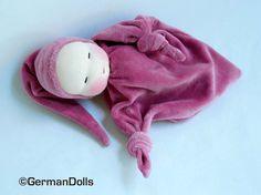 10 inch Little Rosepink Blanket Doll  waldorf style by germandolls, $35.00