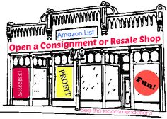 Amazon Recommendation List if you want to start a consignment or resale shop of your own Thrift Store Shopping, Resale Store, Shopping Sites, Consignment Shops, Consignment Online, Opening A Business, Kids Store, Craft Business, Entrepreneurship