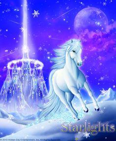 Luna Arctic Explorers, Blue Flames, Magical Creatures, Horse Art, Moonlight, Original Art, Clouds, Horses, Gallery