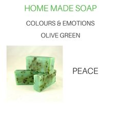 Home Made Soap, Soap Making, Olive Green, Colours, Homemade, Homemade Dish Soap, Home Made, Hand Made