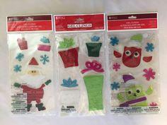 Christmas Window Gel Clings - NEW - Santa Presents Snowflakes Owls Reusable #Unbranded #WindowGelClings