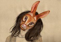 Masks by Peony Yip, via Behance