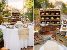 cupcakes in old wood crates