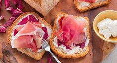 Pain complet au jambon de Parme, sauge, stracchino et trévise - RelaxNews - © Consortium du jambon de Parme