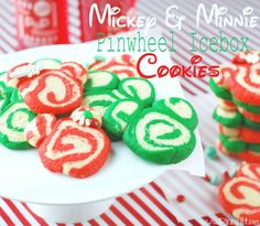 Mickey & Minnie Pinwheel Ice Box Cookies @Judy VW.com