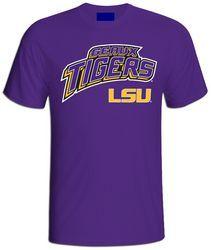 LSU Geaux Tigers Mens T Shirt Purple - www.LSUTigersApparel.com