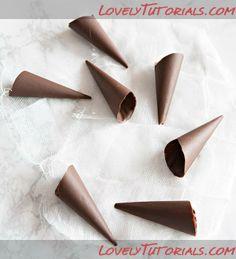 Chocolate cone tutorial