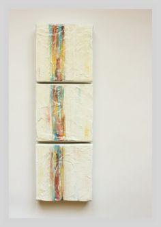 Wall Sculpture - Textured Painting on Canvas - Minimalist Art