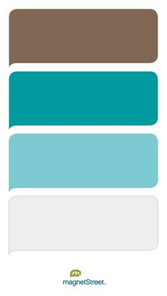 Latte, Teal, Turquoise, and Winter White Wedding Color Palette - custom color palette created at MagnetStreet.com