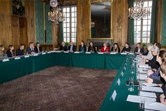 The Swedish Royal Courts: Queen Silvia and Princess Sofia attends a meeting with child rights organizations