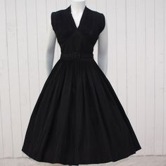 Vintage 1950's Dress * Black Taffeta * New Look * SUZY PERETTE * Party Prom Holiday * Shelf Bust * by fancypantsvintage on Etsy https://www.etsy.com/listing/171816755/vintage-1950s-dress-black-taffeta-new
