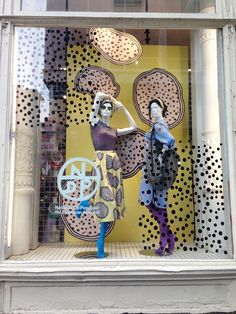 Nathalie Du Pasquier windows in Lower Broadway NYC! #AmericanApparel