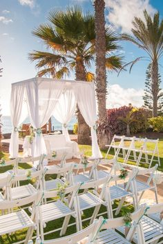 Beautiful wedding arrangements at Sheraton La Caleta Resort, Tenerife