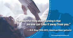 #quote #BBKing #learning #knowledge #CompellingConversations