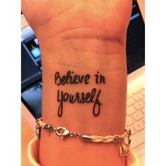 Love this tattoo idea.Whenever you feel down and out you could always look down at your wrist and it will brighten your day.