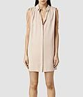 Femme Drain Dress Shirt Robe droite Chemise (Dusty Pink) | ALLSAINTS.com #dress #women #covetme