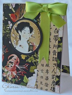 Inspiration for Asian scrapbook layout using Grapic 45 Bird Song from Scraps of Life