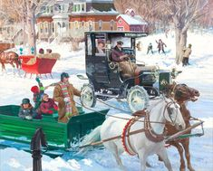 Harry Anderson, Decoupage, Illustration, Winter Art, Car Painting, Early American, Landscape Paintings, Gallery, Artwork