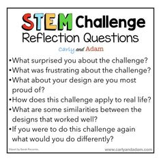 STEM Questioning Strategies Reflection Questions