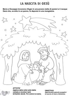 STAMPA E COLORA Childrens Christmas, Christmas Crafts For Kids, A Christmas Story, Christmas Colors, Christmas Art, Jesus Coloring Pages, Preschool Coloring Pages, Free Printable Coloring Pages, Colouring Pages
