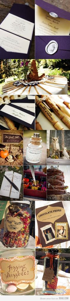 Alright @Gaby Baez and @Kelly Enman - after the fellow proposes with the ring in the Half Blood Prince book, you can have a Potter-themed wedding.