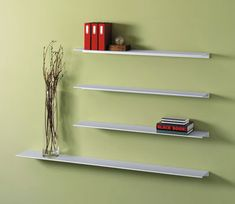 Peter Pepper Envision® Wall Mounted Aluminum Shelf 12 - W & 42 best Floating Wall Shelves images on Pinterest | Floating wall ...