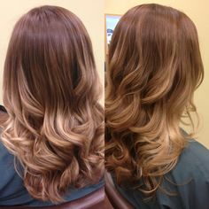 Ombré, color melting, balayage hair color, blonde highlights Did this during this past summer - definitely a hot look - saw some old pics the other day and I miss the look... can't wait until next summer/spring, will probably do it all over again :D
