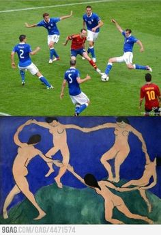 And they say that football isn't art.