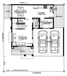 To enumerate, the key features of two story house design with roof deck are: inviting front porch filled with plenty of natural air and light open and free flowing Two Story House Design, Two Story House Plans, Two Story Homes, Contemporary House Plans, Modern House Plans, Plans Architecture, Amazing Architecture, Architecture Design, Three Bedroom House Plan