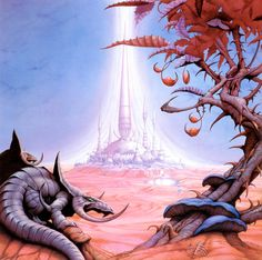 Chase the Dragon open edition print, hand-signed by Rodney Matthews (Magnum…