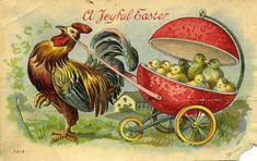 rooster postcard vintage   TWENTY BIZARRE OLD EASTER CARDS! - Marianne Spellman - Open Salon