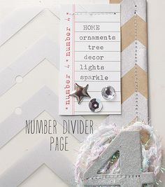 ♥ the idea of doing # Divider Pages!!! ♥ ♥ ♥ | Jennifer Kinkade for Elle's Studio