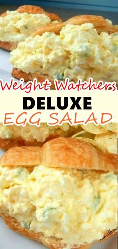 *VIDEO* Deluxe Egg Salad – Looking for an upgrade on the traditional egg salad? Try this Deluxe Egg Salad! It includes cream cheese, grated onions and is by far my favorite version of egg salad Are Skinny Recipes, Ww Recipes, Summer Recipes, Cooking Recipes, Healthy Recipes, Egg Recipes For Lunch, Salad Recipes, Recipies, Snacks Recipes