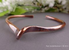 Simple Solid Copper Cuff - with a Twist | Handcrafted Jewelry by Patti Vanderbloemen
