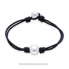 Ao Bei Single Cultured Freshwater Pearl Leather Bracelet Handmade Pearls Jewelry for Women-Black White 7.5″ Check It Out Now     $7.99    Handmade Cultured Freshwater pearls leather bracelet on genuine leather cord,Designed with 3 size for women, Custom si ..  http://www.handmadeaccessories.top/2017/03/23/ao-bei-single-cultured-freshwater-pearl-leather-bracelet-handmade-pearls-jewelry-for-women-black-white-7-5-2/