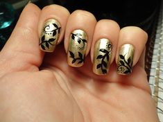 Gold n Black Inspired By Robin Moses - Nail Art Gallery by NAILS Magazine