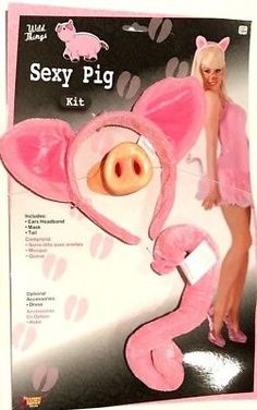 Pink Sexy Costumes for sale Pig Costumes, Costumes For Sale, Ear Headbands, Kit, Sexy, Ears, Spaces, Inspiration, Outfits