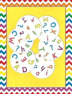 Letters, Numbers, and Other Symbols Spot It Game English Games For Kids, School Ot, Letter Games, It Game, School Schedule, Number Games, Tracing Letters, Letters And Numbers, Special Education