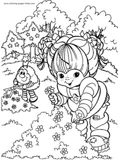 Rainbow Brite color page cartoon characters coloring pages, color plate, coloring sheet,printable coloring picture