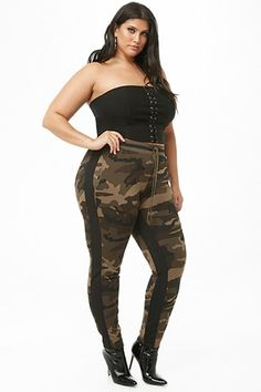 f358005e251 Plus Size Camo Print Track Pants Plus Size Sale