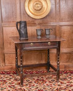 Joined Oak Side Table Drawer Fronts, 17th Century, Antique Furniture, Side  Tables,