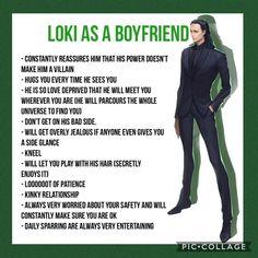 Loki as a boyfriend Loki Marvel, Loki Avengers, Marvel Jokes, Avengers Memes, Loki Thor, Tom Hiddleston Loki, Marvel Funny, Marvel Heroes, Marvel Comics