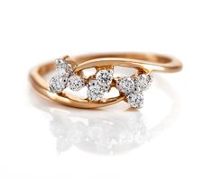 18 Kt Rose Gold Ring With Diamonds