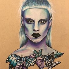 WANT A FREE FEATURE ?  1) like and comment on this photo  2) follow @ladyterezie  3) CLICK link in my profile   Happy instagramming!   #art #freeshoutouts #shoutout #feature #shoutouts   Repost from @that_panda_girl  #art #artist #artwork #draw #drawing #portrait #realism #yolandivisser #yolandi #realism #colour #butterfly #illustration #dieantwoord #music #muscian #tattoo #tattoos #tattooist #apprenticetattooist #femaletattooartist #expressionism @zef_house via…