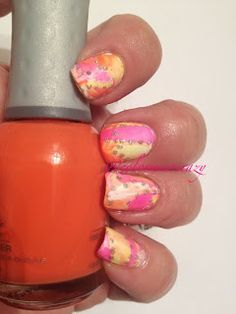 ColorMeSoCrazy: Neons Week 3  Orly- Glowsticks Orly Hot Shot Orly- Truly Tangerine Sinful Colors- Snow Me White Sinful Colors- Silver