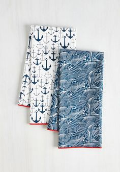 Craving Waves Tea Towel Set | Mod Retro Vintage Kitchen | ModCloth.com