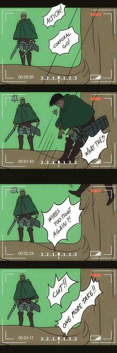 Ereri, Levi X Eren, Attack On Titan Comic, Attack On Titan Fanart, Aot Funny, Funny Comics, Anime Meme, Aot Memes, Funny Memes