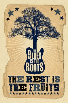 blues are the fruits poster - muddy waters